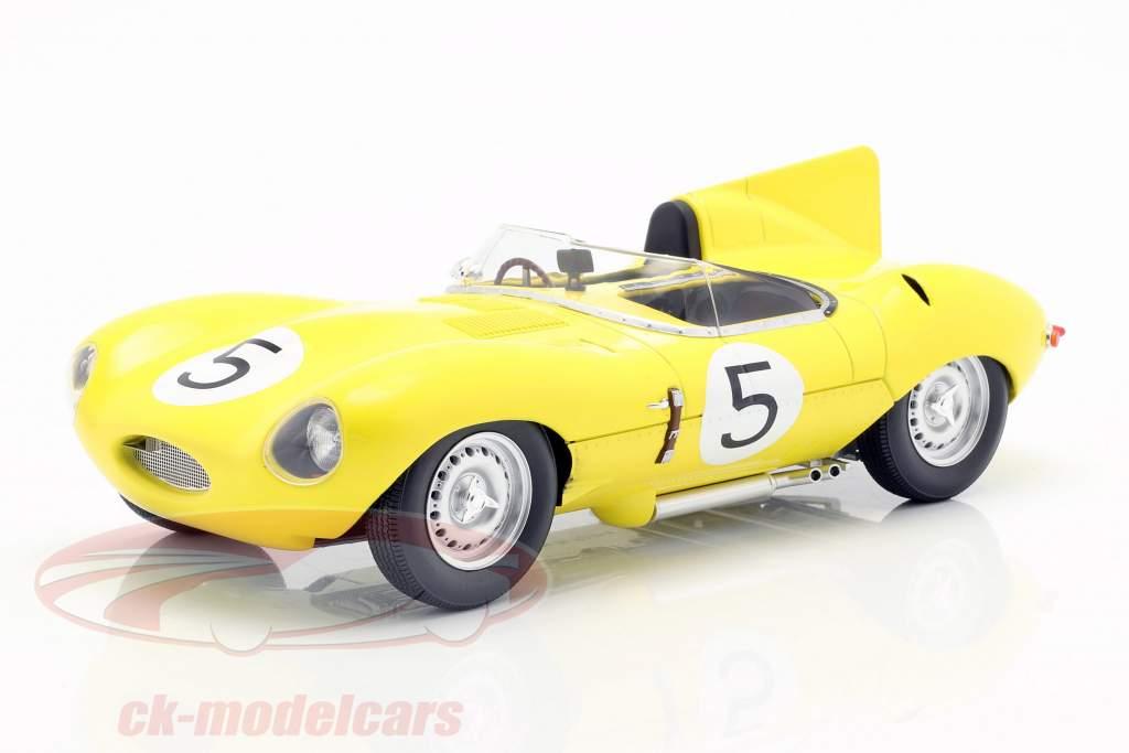 Jaguar D-Type #5 4e 24h LeMans 1956 Swaters, Rousselle 1:18 CMR