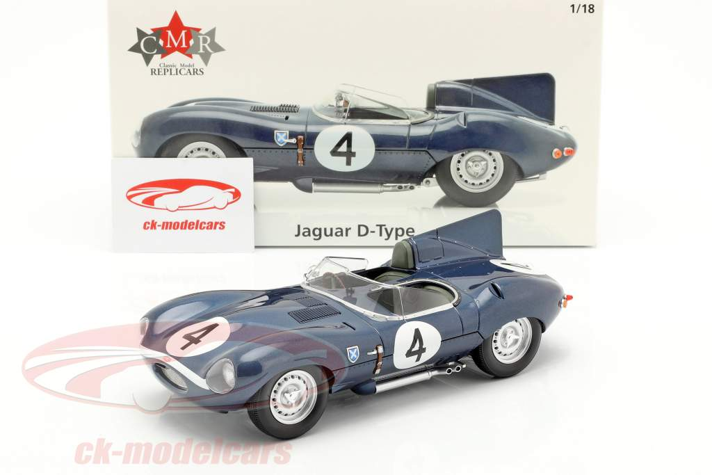 Jaguar D-Type #4 ganador 24h LeMans 1956 Sanderson, Flockhart 1:18 CMR