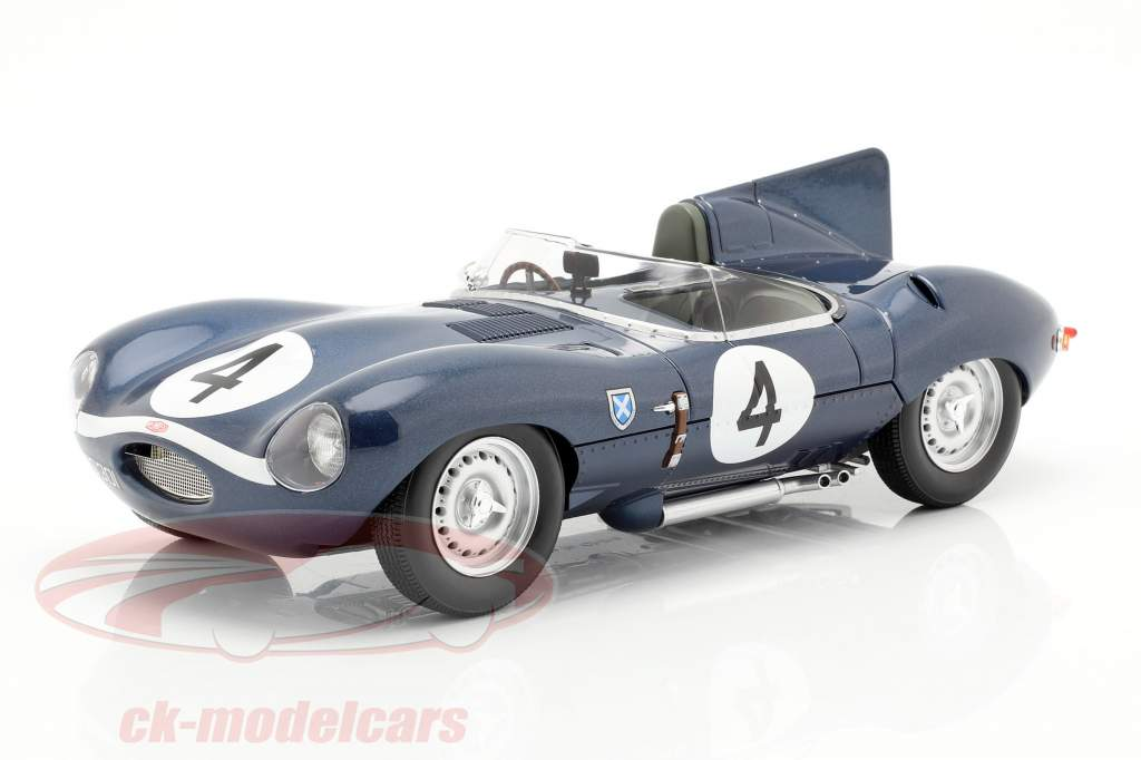 Jaguar D-Type #4 vincitore 24h LeMans 1956 Sanderson, Flockhart 1:18 CMR
