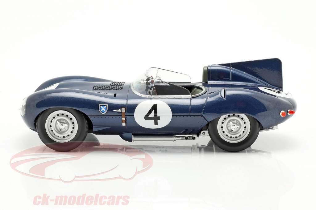 Jaguar D-Type #4 vencedor 24h LeMans 1956 Sanderson, Flockhart 1:18 CMR