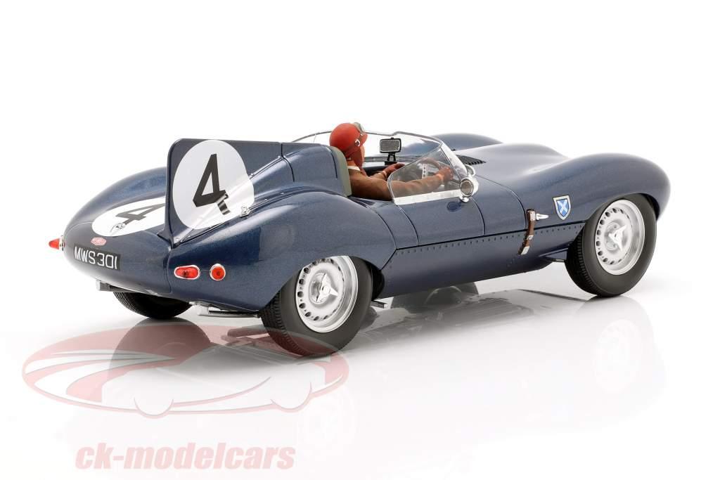 Set: Jaguar D-Type #4 vincitore 24h LeMans 1956 con autista cifra 1:18 CMR