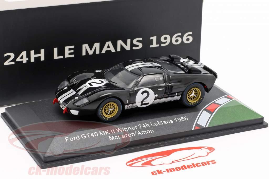 Ford GT40 MK II #2 Vinder 24h LeMans 1966 McLaren, Amon 1:43 CMR