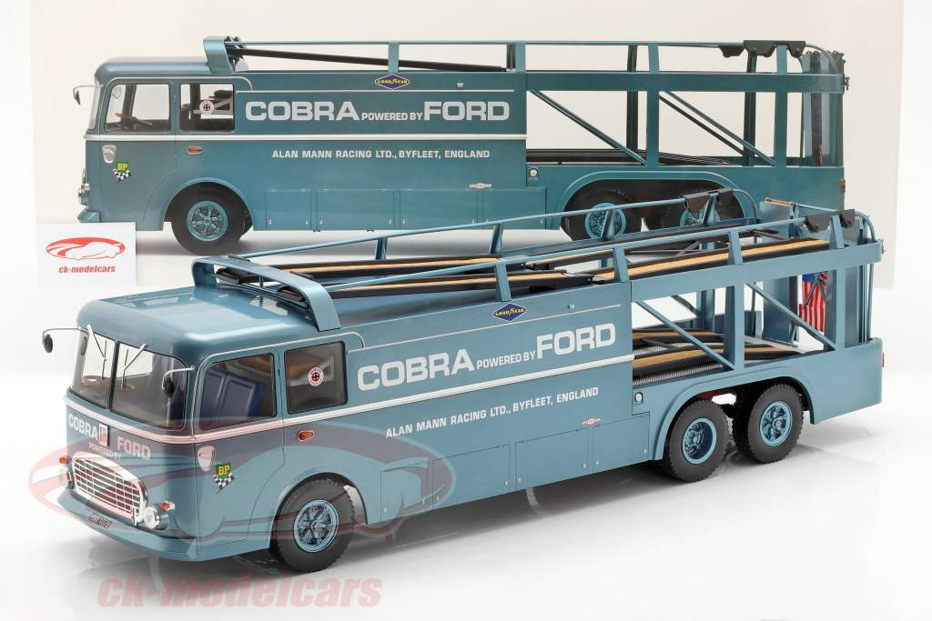 Fiat Bartoletti 306/2 Shelby Cobra Race transporter Alan Mann Racing Ltd 1:18 Norev