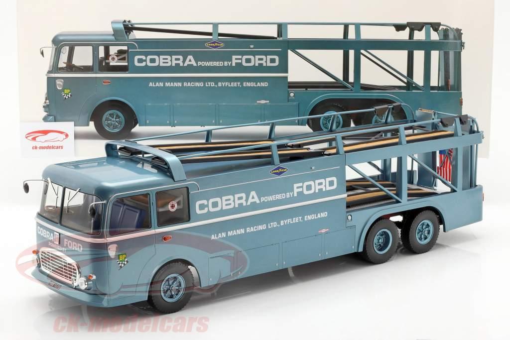Fiat Bartoletti 306/2 Shelby Cobra raza transportador Alan Mann Racing Ltd 1:18 Norev