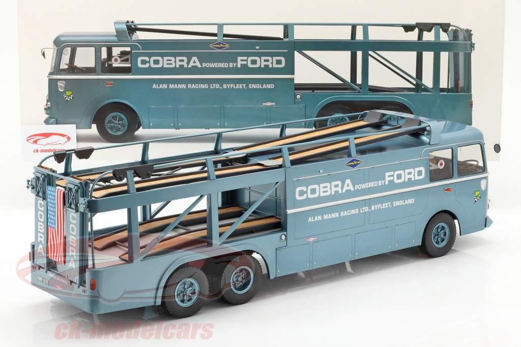 Fiat Bartoletti 306/2 Shelby Cobra gara trasportatore Alan Mann Racing Ltd 1:18 Norev