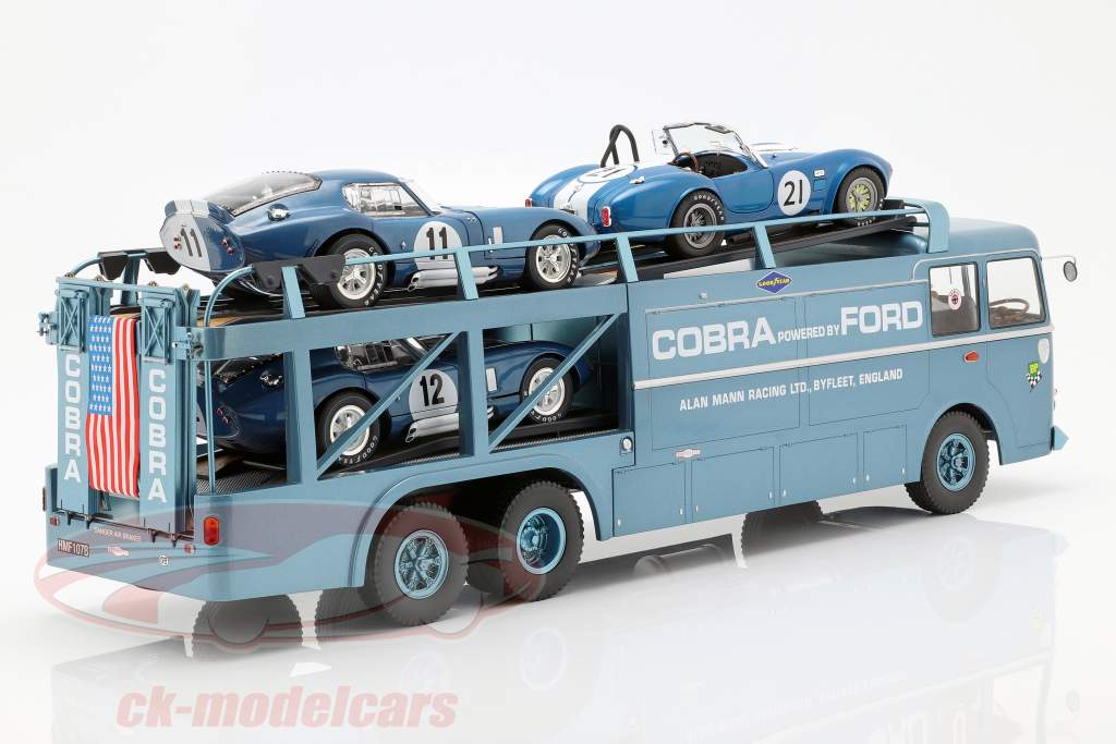 Fiat Bartoletti 306/2 Shelby Cobra course transporteur Alan Mann Racing Ltd 1:18 Norev