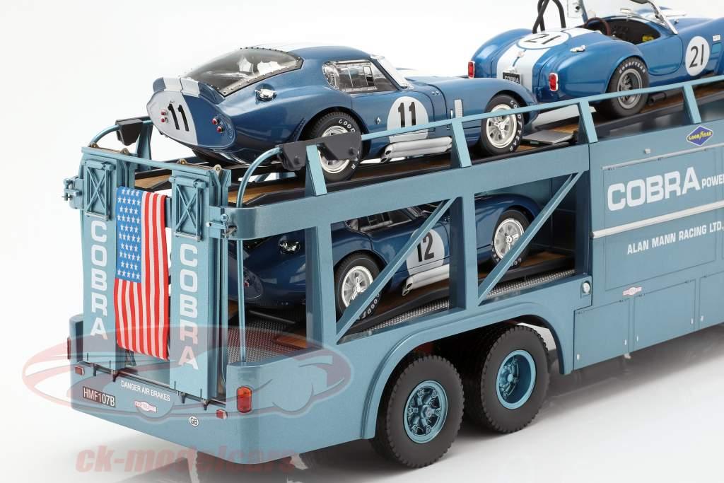 Fiat Bartoletti 306/2 Shelby Cobra Renntransporter Alan Mann Racing Ltd 1:18 Norev
