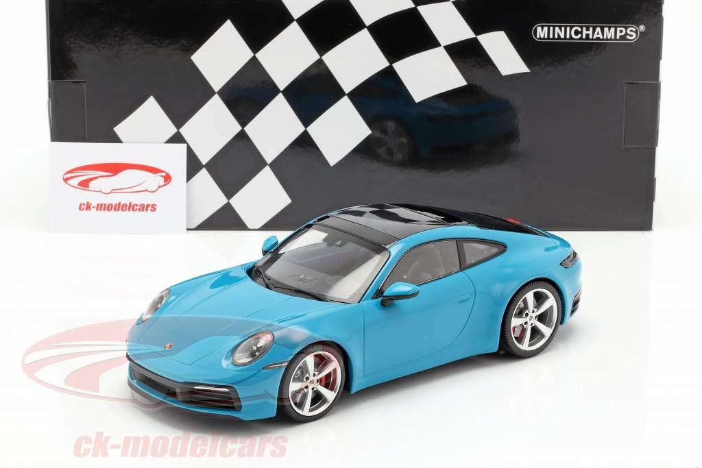 Porsche 911 (992) Carrera 4S ano 2019 miami azul 1:18 Minichamps
