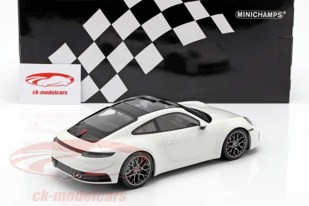 Porsche 911 (992) Carrera 4S year 2019 white 1:18 Minichamps