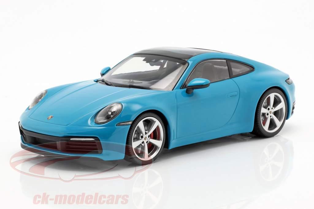 Porsche 911 (992) Carrera 4S anno 2019 miami blu 1:18 Minichamps