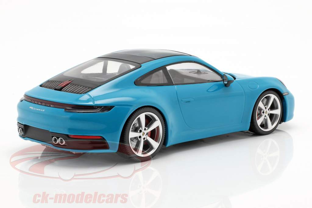 Porsche 911 (992) Carrera 4S year 2019 miami blue 1:18 Minichamps