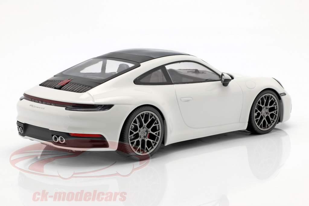 Porsche 911 (992) Carrera 4S année de construction 2019 blanc 1:18 Minichamps