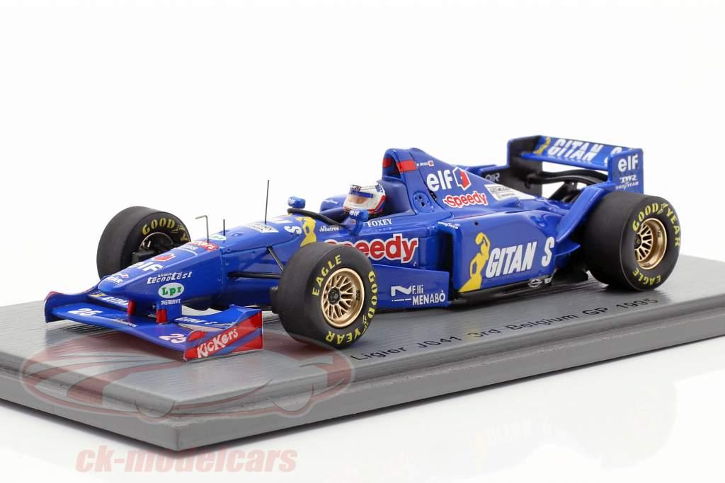 Martin Brundle Ligier JS41 #25 3ª belga GP fórmula 1 1995 1:43 Spark