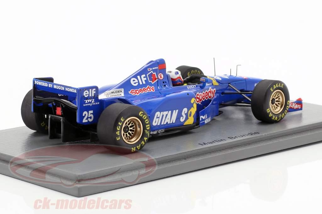 Martin Brundle Ligier JS41 #25 3e Belgisch GP formule 1 1995 1:43 Spark