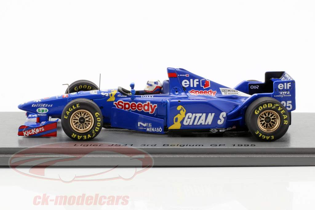 Martin Brundle Ligier JS41 #25 3 ° belga GP formula 1 1995 1:43 Spark