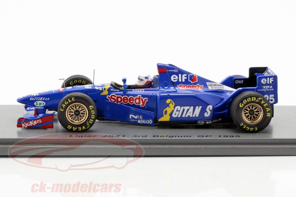 Martin Brundle Ligier JS41 #25 3. belgisk GP formel 1 1995 1:43 Spark