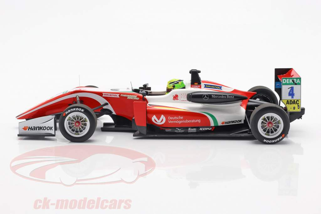 Mick Schumacher Dallara F317 #4 fórmula 3 campeão 2018 1:18 Minichamps