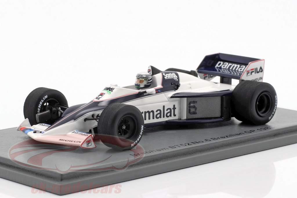 Riccardo Patrese Brabham BT52 #6 Brazil GP formula 1 1983 1:43 Spark