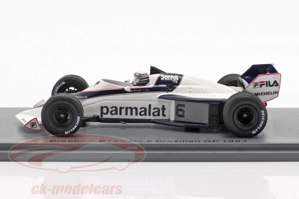 Riccardo Patrese Brabham BT52 #6 Brésil GP formule 1 1983 1:43 Spark