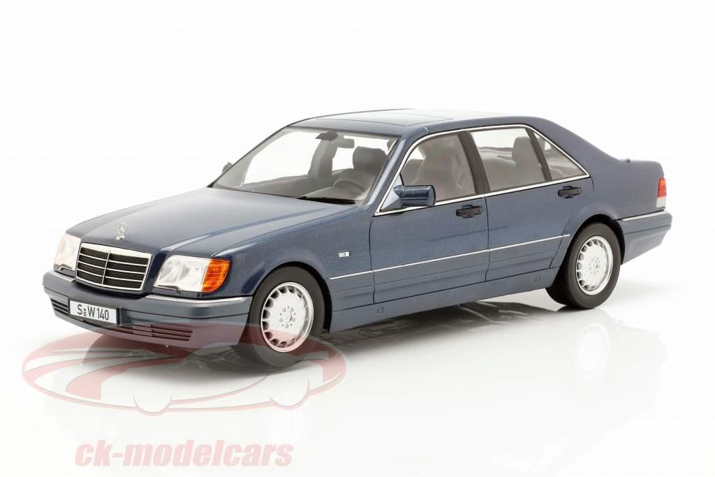 Mercedes-Benz S500 (W140) año de construcción 1994-98 azurit azul / gris 1:18 iScale