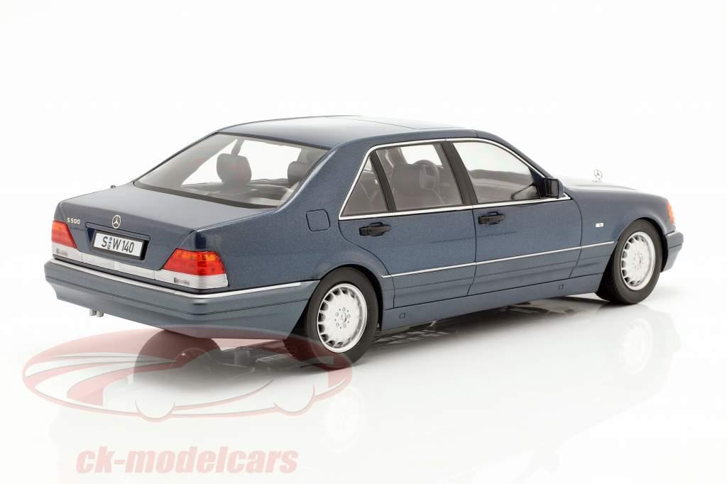 Mercedes-Benz S500 (W140) anno di costruzione 1994-98 azurit blu / grigio 1:18 iScale