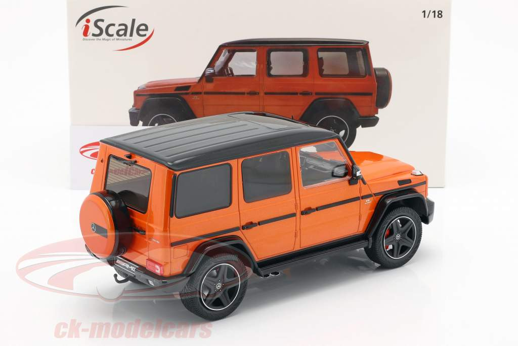 Mercedes-Benz G-Klasse G63 AMG Crazy Colors sunsetbeam orange 1:18 iScale