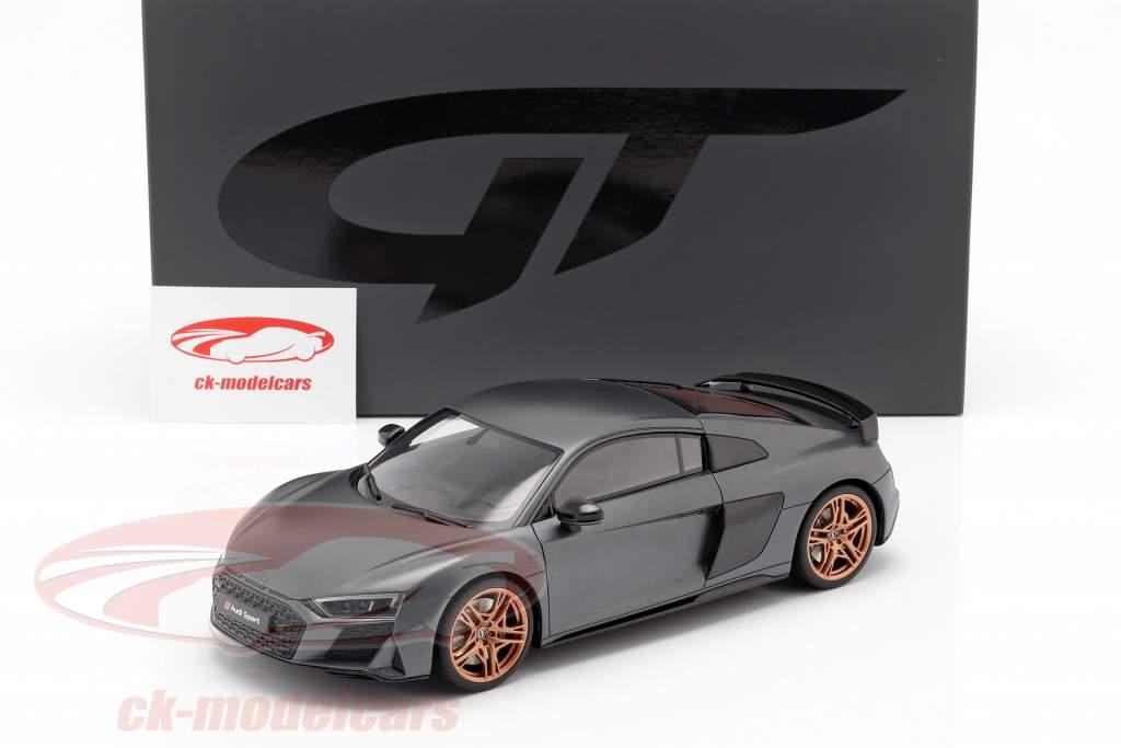 Audi R8 V10 Decennium Construction year 2018 Gray metallic 1:18 GT-Spirit
