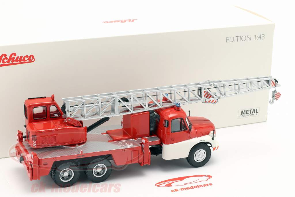 Tatra T148 guindaste veículo bombeiros vermelho / branco 1:43 Schuco