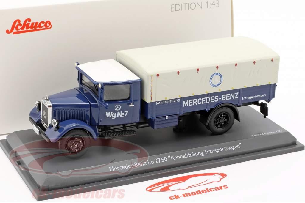 Mercedes-Benz Lo 2750 Rennabteilung transporte furgoneta 1:43 Schuco