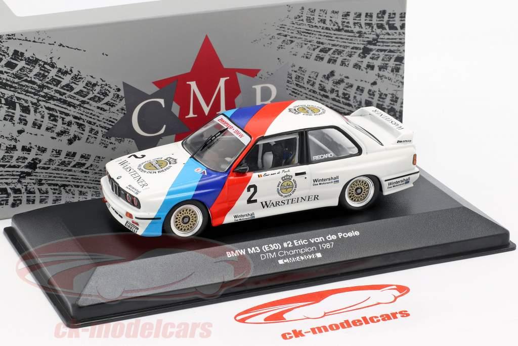 BMW M3 (E30) #2 DTM campeão 1987 Eric van de Poele 1:43 CMR