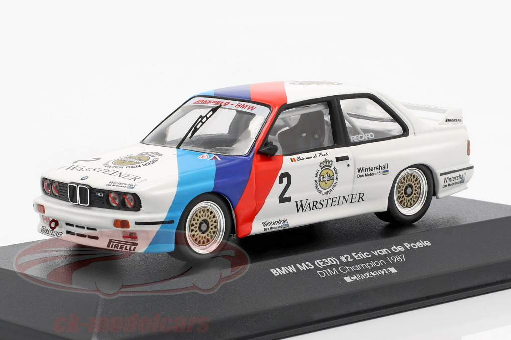 BMW M3 (E30) #2 DTM kampioen 1987 Eric van de Poele 1:43 CMR