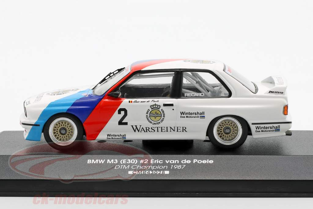 BMW M3 (E30) #2 DTM mester 1987 Eric van de Poele 1:43 CMR