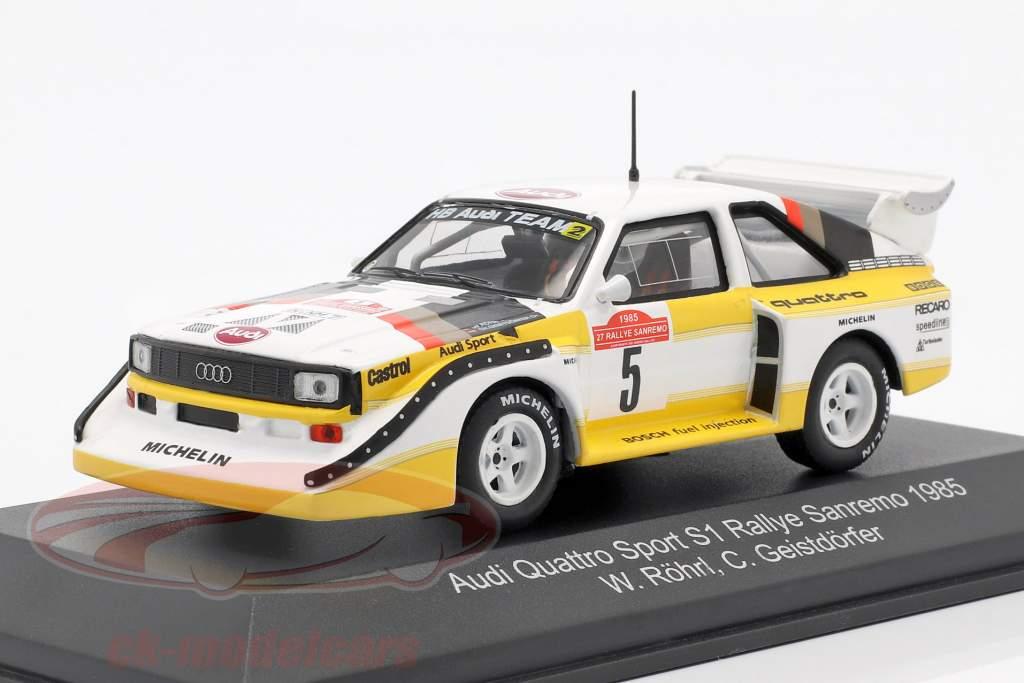 Audi Sport Quattro S1 #5 vencedor Rallye SanRemo 1985 Röhrl, Geistdörfer 1:43 CMR