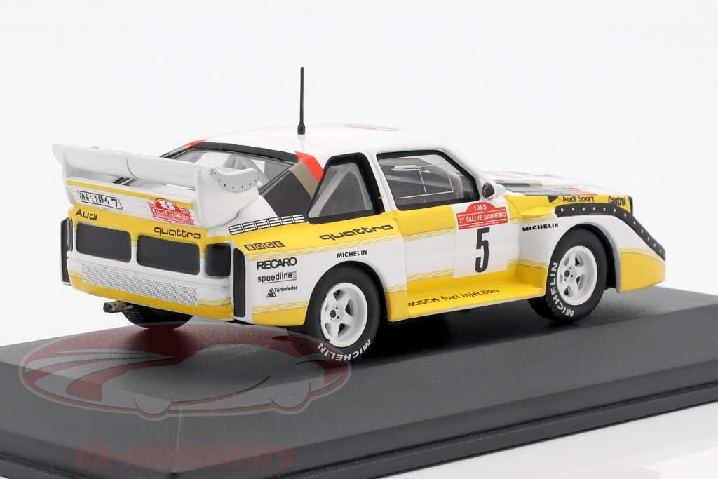 Audi Sport Quattro S1 #5 winnaar Rallye SanRemo 1985 Röhrl, Geistdörfer 1:43 CMR
