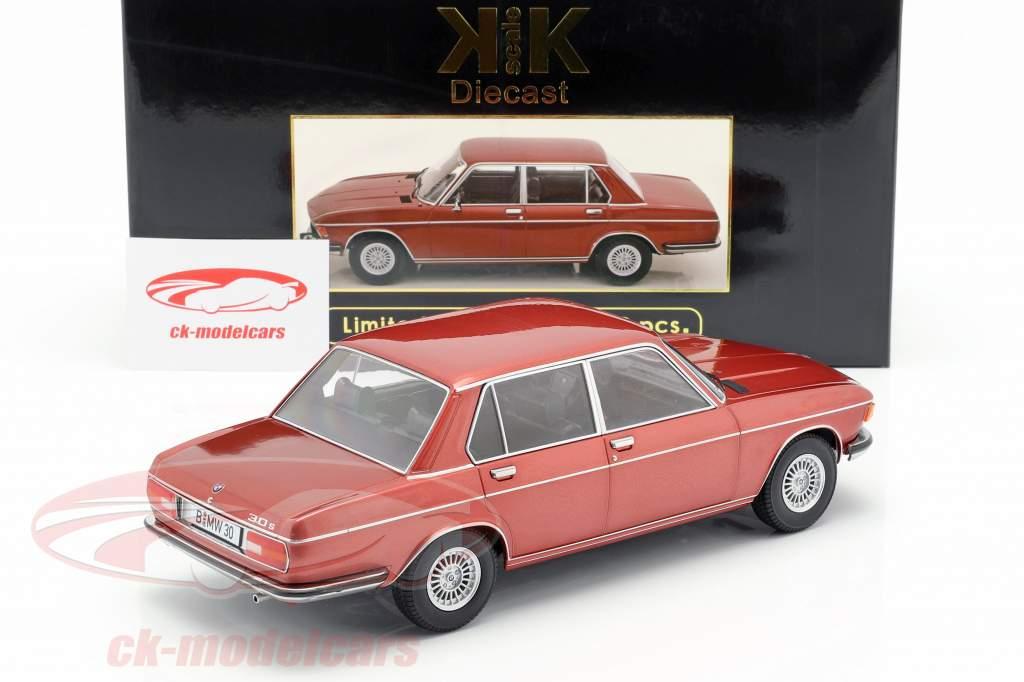 BMW 3.0S E3 serie 2 Bouwjaar 1971 bruin metalen 1:18 KK-Scale