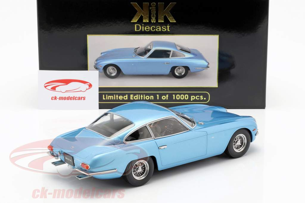 Lamborghini 400 GT 2+2 Baujahr 1965 lyseblå metallic 1:18 KK-Scale