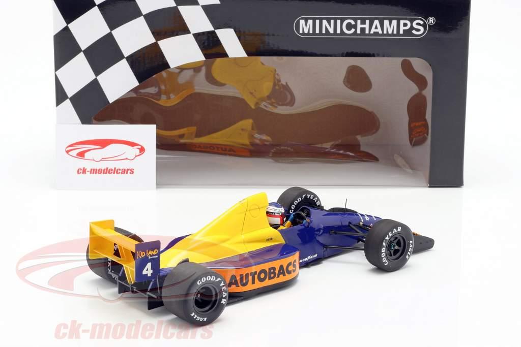 Jean Alesi Tyrrell 018 #4 japansk GP formel 1 1989 1:18 Minichamps