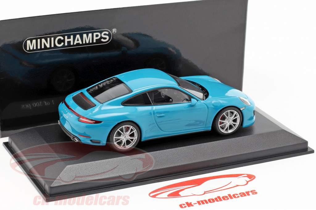 Porsche 911 (991 II) Carrera 4S año de construcción 2016 miami azul 1:43 Minichamps