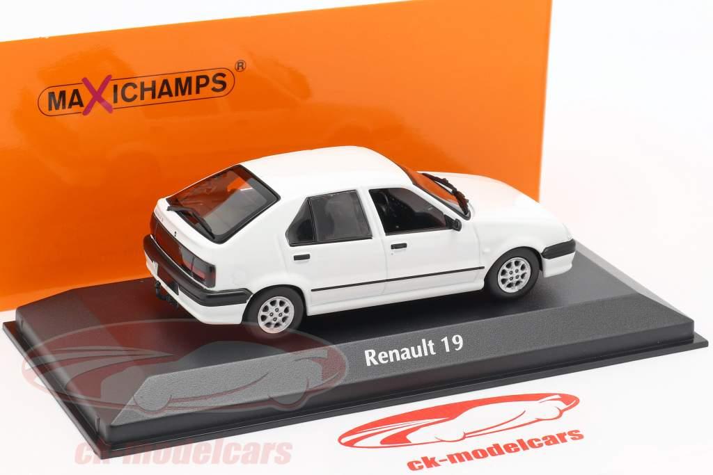 Renault 19 año de construcción 1995 blanco 1:43 Minichamps