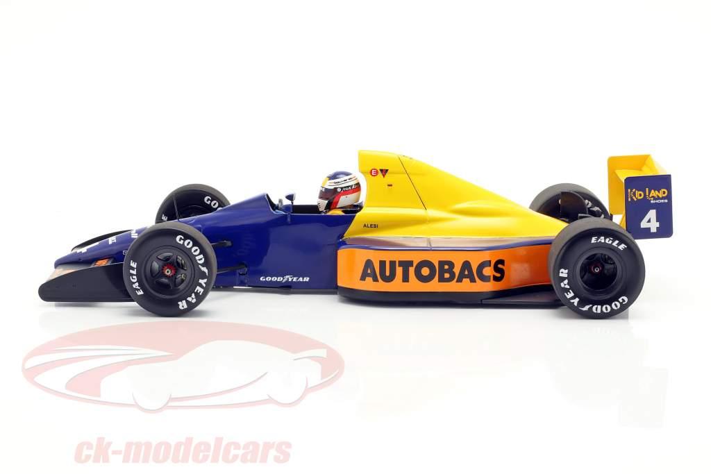 Jean Alesi Tyrrell 018 #4 giapponese GP formula 1 1989 1:18 Minichamps