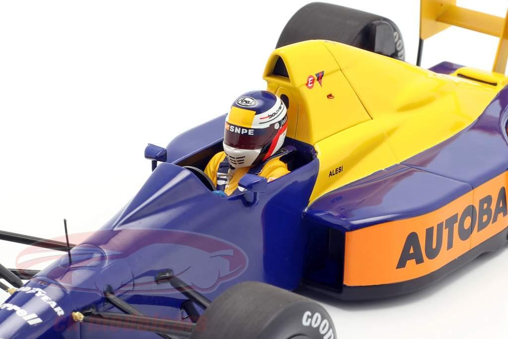 Jean Alesi Tyrrell 018 #4 japonês GP fórmula 1 1989 1:18 Minichamps