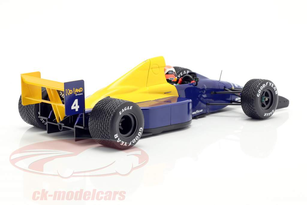 Johnny Herbert Tyrrell 018 #4 belga GP fórmula 1 1989 1:18 Minichamps