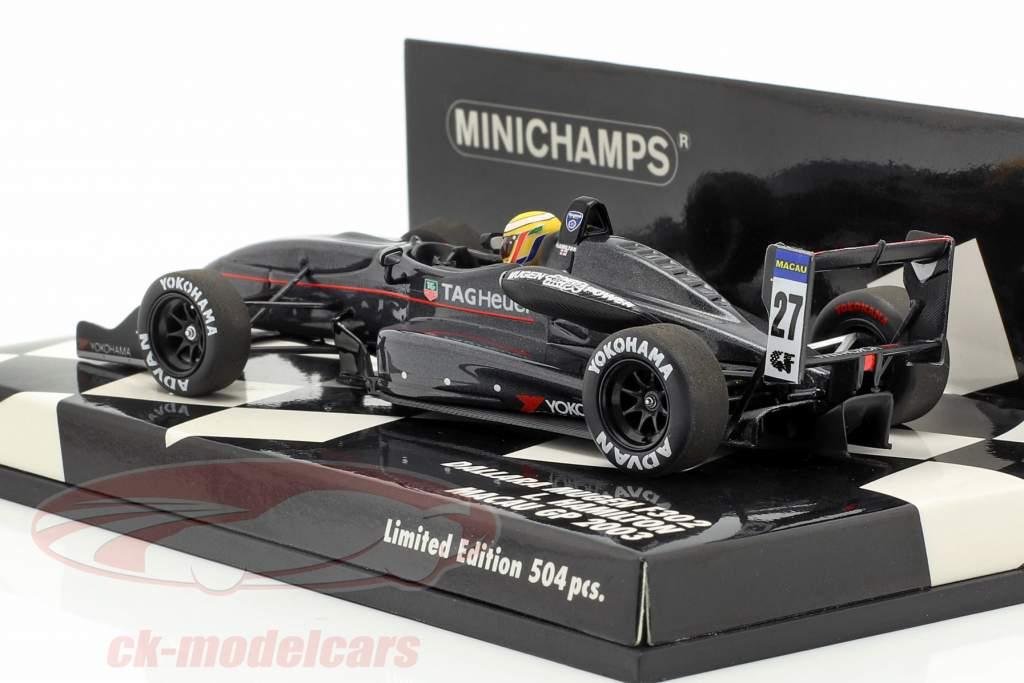 Lewis Hamilton Dallara Mugen F302 #27 Macau GP 2003 1:43 Minichamps