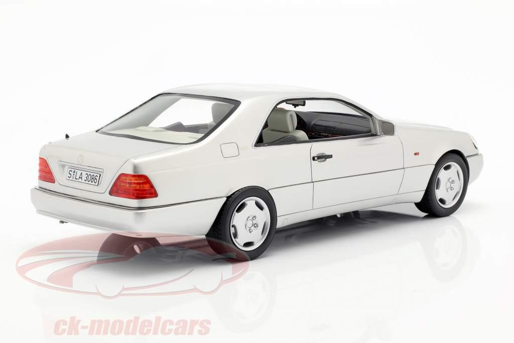 Mercedes-Benz 600 SEC (C140) anno di costruzione 1992 argento 1:18 Cult Scale