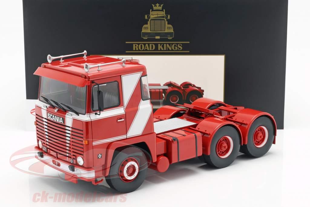 Scania LBT 141 trator ano de construção 1976 vermelho / branco 1:18 Road Kings