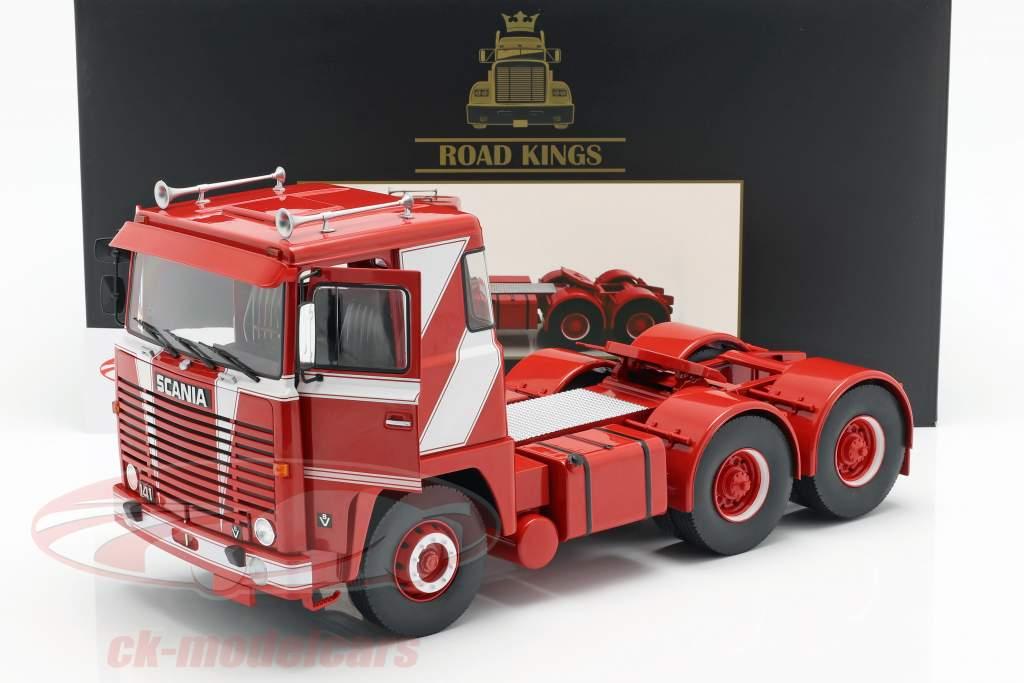 Scania LBT 141 Traktor Opførselsår 1976 rød / hvid 1:18 Road Kings