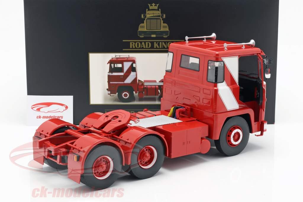 Scania LBT 141 trekker Bouwjaar 1976 rood / wit 1:18 Road Kings