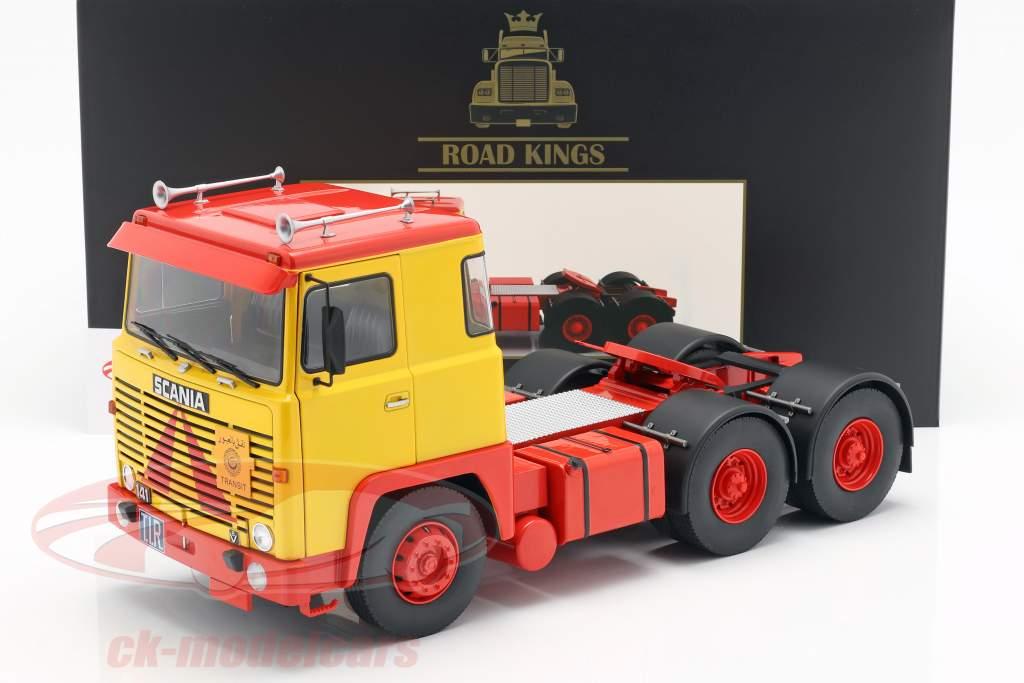 Scania LBT 141 tractor año de construcción 1976 amarillo / rojo 1:18 Road Kings
