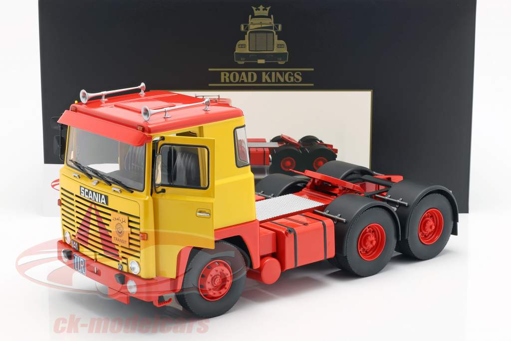 Scania LBT 141 trattore anno di costruzione 1976 giallo / rosso 1:18 Road Kings
