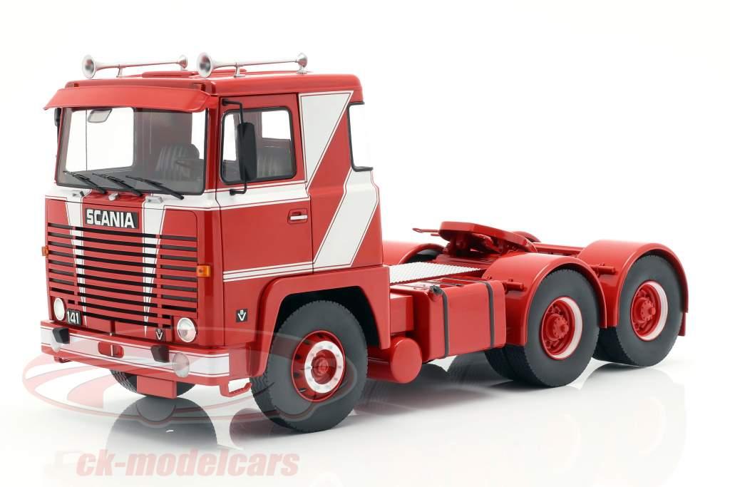 Scania LBT 141 tracteur année de construction 1976 rouge / blanc 1:18 Road Kings